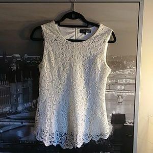 Acom No. 9. White lace top.